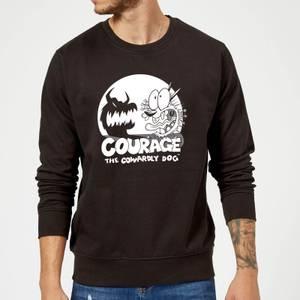Courage The Cowardly Dog Spotlight Sweatshirt - Black