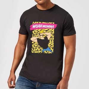 Johnny Bravo Woah Momma Men's T-Shirt - Black