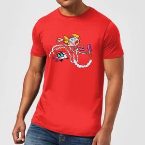 Dexters Lab Rocket Shoes Men's T-Shirt - Red