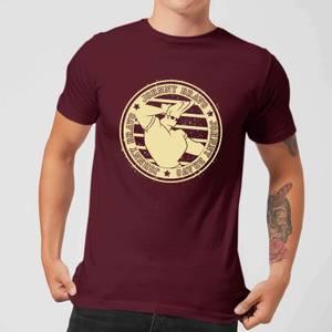 Johnny Bravo Sports Badge Men's T-Shirt - Burgundy