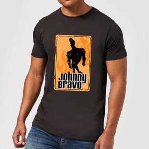 Johnny Bravo Fire Men's T-Shirt - Black
