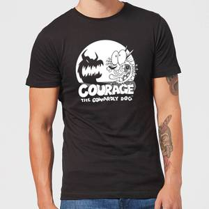 Courage The Cowardly Dog Spotlight Men's T-Shirt - Black