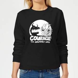 Courage The Cowardly Dog Spotlight Women's Sweatshirt - Black