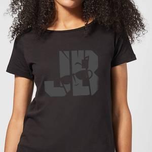 Johnny Bravo JB Sillhouette Women's T-Shirt - Black