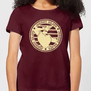 Johnny Bravo Sports Badge Women's T-Shirt - Burgundy