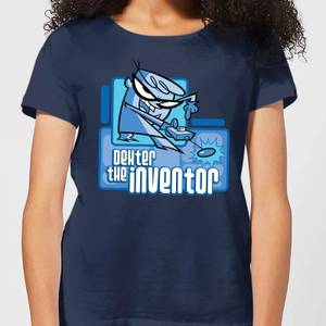 Dexters Lab The Inventor Women's T-Shirt - Navy