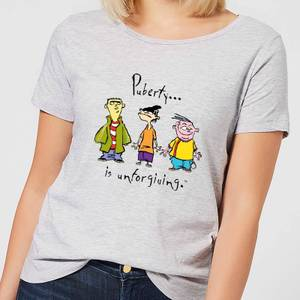 Ed, Edd n Eddy Puberty Is Unforgiving Women's T-Shirt - Grey