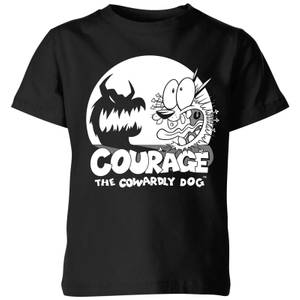 Courage The Cowardly Dog Spotlight Kids' T-Shirt - Black