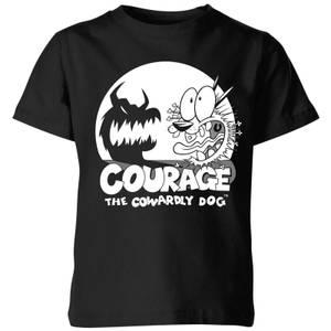Courage The Cowardly Dog Spotlight Kids' T-Shirt - Black