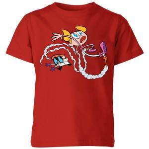 Dexters Lab Rocket Shoes Kids' T-Shirt - Red