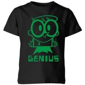 Dexters Lab Green Genius Kids' T-Shirt - Black