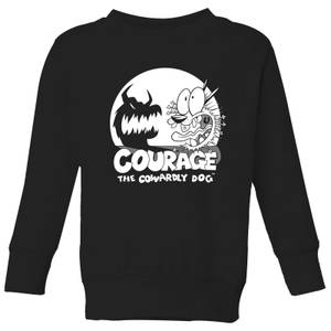 Courage The Cowardly Dog Spotlight Kids' Sweatshirt - Black
