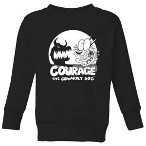 Courage The Cowardly Dog Spotlight Kids' Sweatshirt - Black