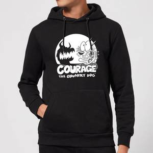 Courage The Cowardly Dog Spotlight Hoodie - Black