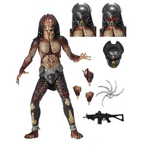 "NECA Predator (2018) - 7"" Scale Action Figure - Ultimate Fugitive"