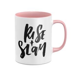 Rise And Slay Mug - White/Pink