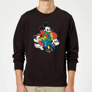 Disney Mickey Mouse Vintage Arrows Sweatshirt - Black