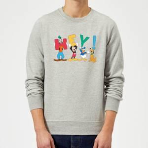 Disney Mickey Mouse Hey! Sweatshirt - Grey