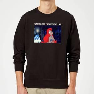 Disney The Little Mermaid Weekend Wait Sweatshirt - Black