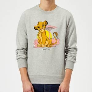 Disney Lion King Simba Pastel Sweatshirt - Grey