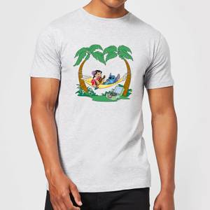 Disney Lilo And Stitch Play Some Music Men's T-Shirt - Grey