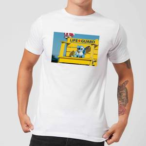 Disney Lilo And Stitch Life Guard Men's T-Shirt - White