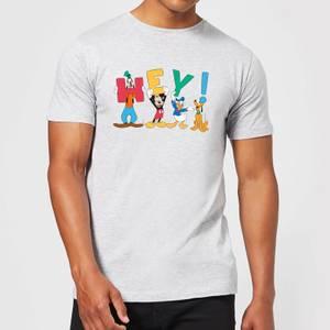 Disney Mickey Mouse Hey! Men's T-Shirt - Grey