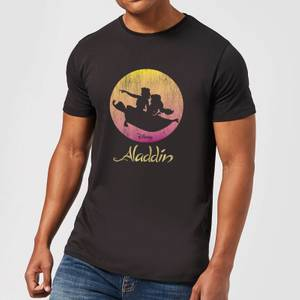 Disney Aladdin Flying Sunset Men's T-Shirt - Black