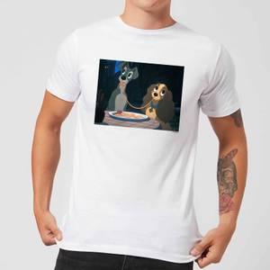 Disney Lady en de Vagebond Spaghetti Scene t-shirt - Wit