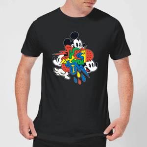 Disney Mickey Mouse Vintage Arrows Men's T-Shirt - Black