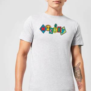 Disney Mickey Fruit Blocks Men's T-Shirt - Grey