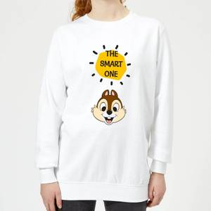 Disney Chip 'N' Dale The Smart One Women's Sweatshirt - White