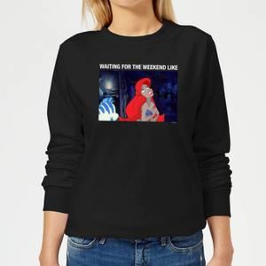 Disney The Little Mermaid Weekend Wait Women's Sweatshirt - Black