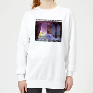 Disney Sleeping Beauty I'll Be There In Five Women's Sweatshirt - White