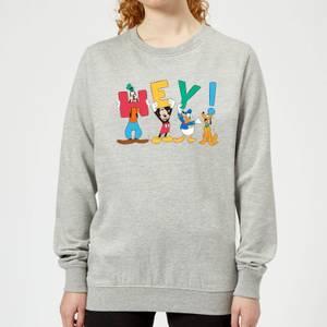 Disney Mickey Mouse Hey! Women's Sweatshirt - Grey
