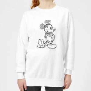 Disney Mickey Mouse Sketch Women's Sweatshirt - White