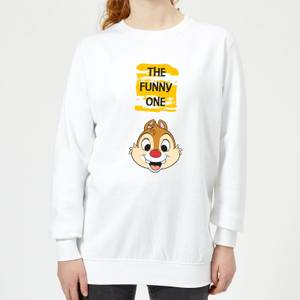 Disney Chip 'N' Dale The Funny One Women's Sweatshirt - White