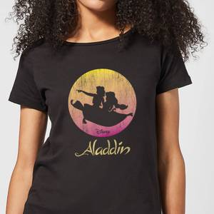 Disney Aladdin Flying Sunset Women's T-Shirt - Black