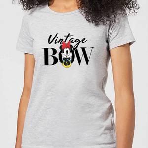 Disney Minnie Mouse Vintage Bow Women's T-Shirt - Grey