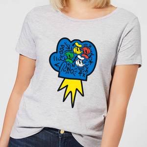 Donald Duck Pop Fist Women's T-Shirt - Grey