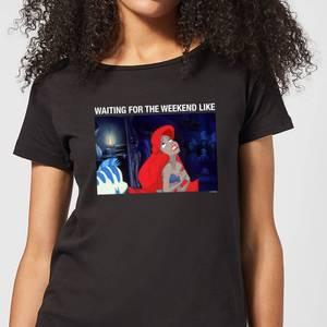 Disney The Little Mermaid Weekend Wait Women's T-Shirt - Black