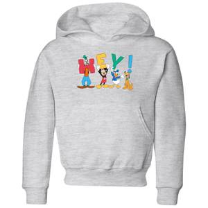 Disney Mickey Mouse Hey! Kids' Hoodie - Grey