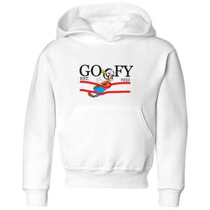 Disney Goofy By Nature Kids' Hoodie - White