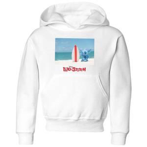 Disney Lilo & Stitch Surf Beach kinder hoodie - Wit