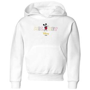 Disney Mickey Mouse Disney Wording Kids' Hoodie - White