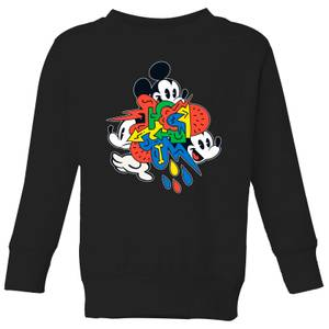 Disney Mickey Mouse Vintage Arrows Kids' Sweatshirt - Black