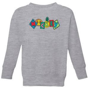 Disney Mickey Fruit Blocks Kids' Sweatshirt - Grey