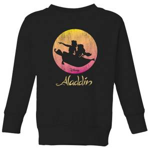 Disney Aladdin Flying Sunset Kids' Sweatshirt - Black