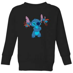 Disney Lilo And Stitch Little Devils Kids' Sweatshirt - Black