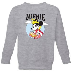 Disney Mickey Mouse Queen Minnie Kids' Sweatshirt - Grey